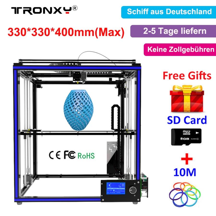Large Size Tronxy X5S 3d printer diy 300x300x400mm I3 Upgrade Full Metal Kit Aluminum Frame Hotbed DIY Tronxy X5S 3d printer kit tronxy acrylic p802 mts 3d printer