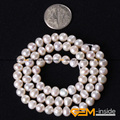 "Pearl: 5-6mm Natural Freshwater Pearl Beads DIY Loose Beads For Bracelet Or Neckalce Making Beads Strand 15"" Wholesale !"