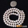 "Perla: 5-6mm Perla Natural de Agua Dulce Perlas Sueltas DIY Para la Pulsera O Neckalce Making Beads Strand 15 ""al por mayor!"