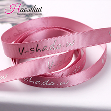 Karyncn gift logo printed brand stain ribbon Polyester Ribbon packaging labels accessory for Christmas festival