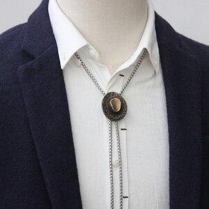 Image 5 - Original design bolotie edelstahl seil legierung hut bolo krawatte für männer persönlichkeit krawatte fashion zubehör