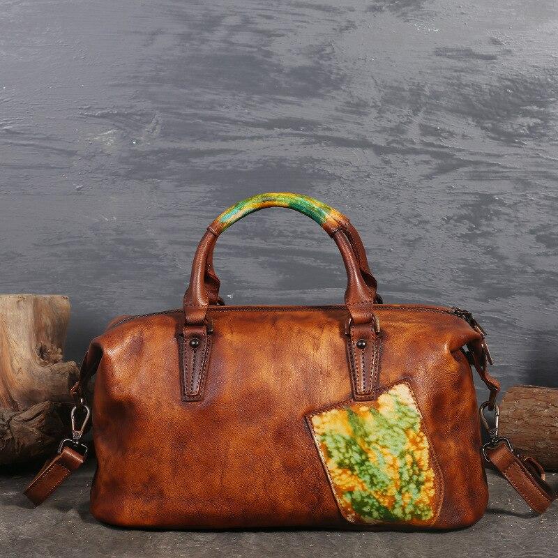 Women Handbag Genuine Leather Shoulder Crossbody Bag For Women Leather Messenger Bag Ladies Bags Boston Large Casual Totes цены