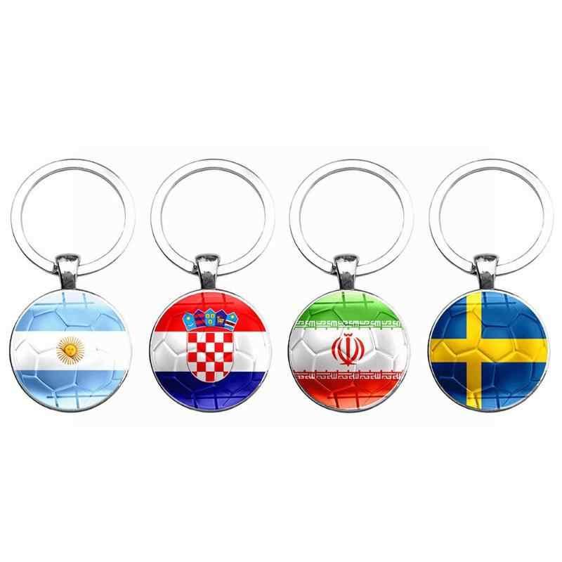 2018 новый флаг мира футбольный брелок болельщиков футбольного клуба брелок Подвески для ключей мешочек для сувениров кулон аксессуары Подарки
