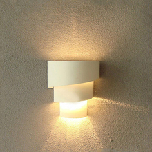 LED Warm White Light  Modern Fashion Decoration Of The Walls Of The Spiral Bedroom Bedside Lamp Wall Lamp Lighting Lumia