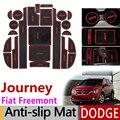 Противоскользящие ворота Слот коврик резиновая подложка для Dodge Journey JC Fiat freeont 2009-2016 SRT R/T аксессуары наклейки 2011 2015
