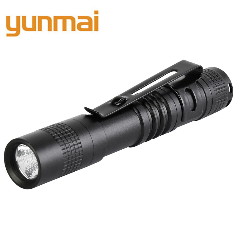 Yunmai Mini Penlight Q5 2000LM LED Flashlight Torch Pocket Light Waterproof Lantern AAA Battery Powerful Led For Walking B22
