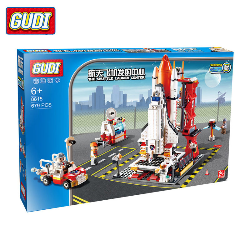 GUDI 928PCS Air Launch Center Building Blocks Toy Childrens Educational Bricks Toys For Kids Gifts Compatible With Legoed