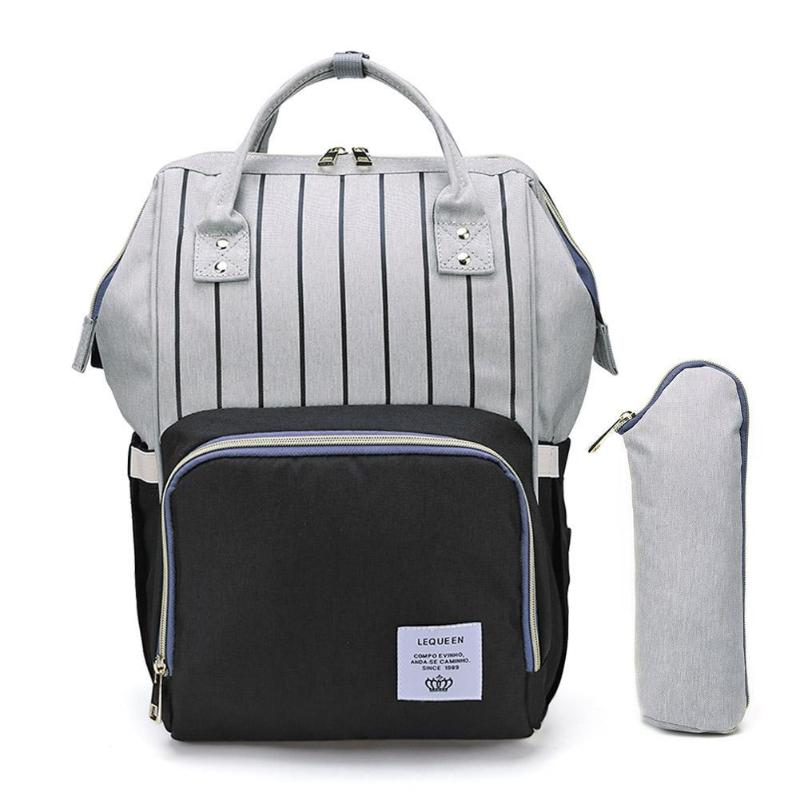 HTB16ng afvsK1RjSspdq6AZepXab LEQUEEN Fashion USB Mummy Maternity Diaper Bag Large Nursing Travel Backpack Designer Stroller Baby Bag Baby Care Nappy Backpack