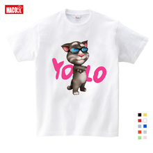 Childrens Favorite Online Games Can Speak Tom Cat Prints Boy T-shirt Summer Tshirt and His Friends Cartoon Costumes