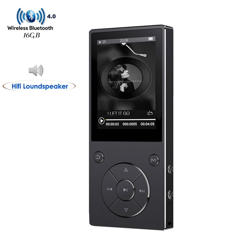 New HIFI Lossless Music MP3 Player With Bluetooth 2.4 TFT Screen Built-in Speaker Music Player Support TF Card Up To 128G havit® hv m6 wireless bluetooth 4 0 nfc sports speaker with built in microphone support tf card 3 5mm audio external connect up to 6 hours music playing easter day special page 7