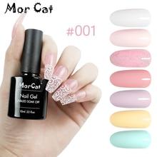 MorCat Nail Gel Polish Pink Glitter UV Gel Nail Polish Nail Art Design Pink Gel Varnish Vernis Semi Permanant Soak Off UV Gel mustela gel lavant doux