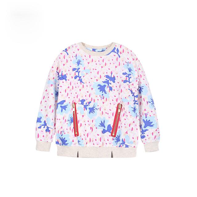 Hoodies de los Bebés del Otoño Primavera de Manga Larga Camiseta de Los Niños Lindos imprimir Niños Niñas Suéter Con Capucha Traje