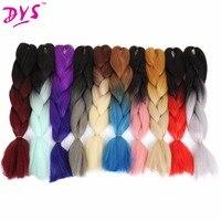 Deyngs 1ピース100グラム/ピースオンブル三つ編みヘアエクステンション自然な合成カネカロン編組髪ツートンツイスト変態ツイストかぎ針編み髪