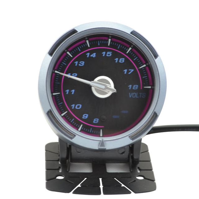 Speed Way-2.5 Pulgadas 60mm Defi Link Advanced C2 Volt Gauge Stepper Volt meter (Rosa y Blanco luz)