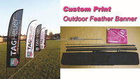 4pcs feather flags (size: 60X240CM), print your designs on both sides. (Free Express Shipping)