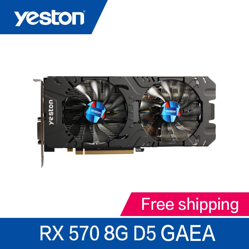 Yeston Radeon RX570 8GB GDDR5 PCI Express x16 3 0 video gaming graphics card external graphics