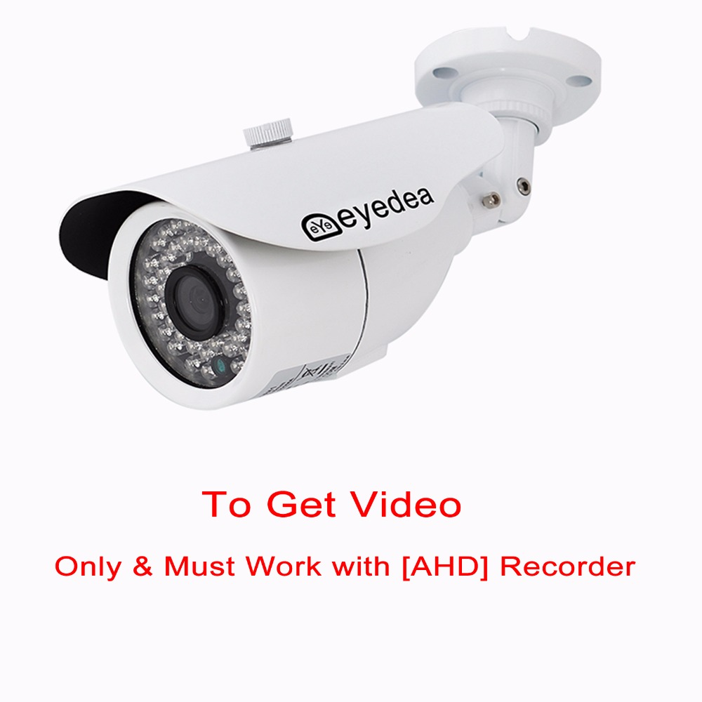 Eyedea Brand New 3500TVL Night Vision White Bullet Outdoor Waterproof Video Surveillance CCTV Security Camera for AHD Recorder