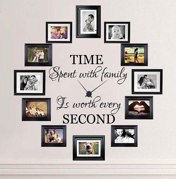 Czas Spędzony Z Rodziny Jest Warte Każdego Drugie Napis ściany