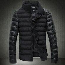 Бесплатная доставка 2015 осень и зима взрыва модели мужская новый корейский тонкий хлопка-ватник воротник мужской пальто