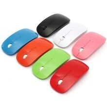 Top Selling USB Optical Wireless Computer 1600 DPI Mouse 2.4G Receiver Super Slim Mouse For PC Laptop Desktop Souris Sans Fil