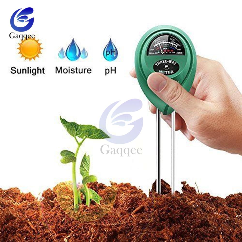 3 In 1 Soil Water Moisture Light PH Meter Tester Digital Analyzer Test Detector For Garden Plant Flower Hydroponic Garden Tool