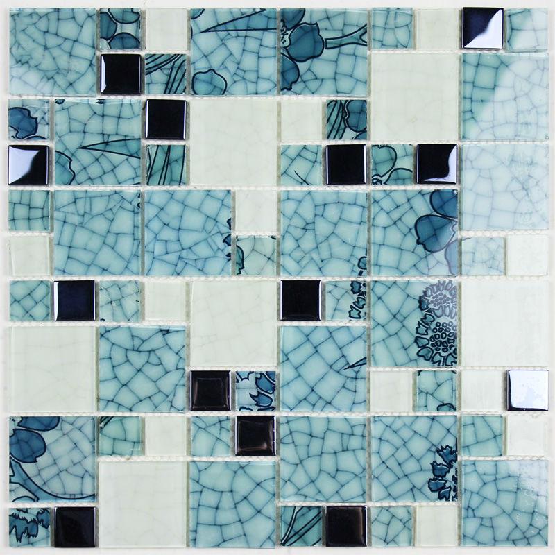 Crystal Glass Tile Backsplash Blue And White Mosaic Tiles Crackle Purple Crystal Glass Mosaics