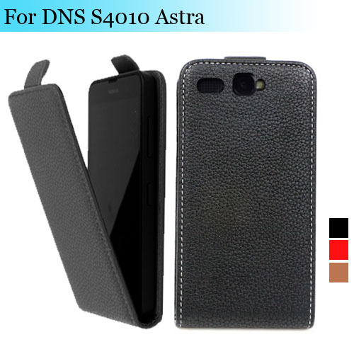 Factory price , Top quality new style flip PU leather case open up and down for DNS S4010 Astra , gift