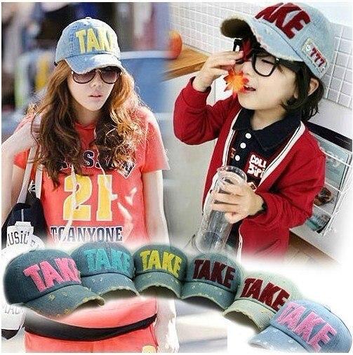 2012 New Adult TAKE hat Fashion Leisure Unisex Letters Visors Hats Caps Baseball cap Lovers Parent-child cap 30pcs/lot
