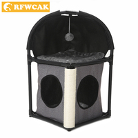 RFWCAK Cat Tree Domestic Delivery Cat Climb Frame Cat Furniture Scratchers Pet Tree House Pet Supplies Kitten Toys