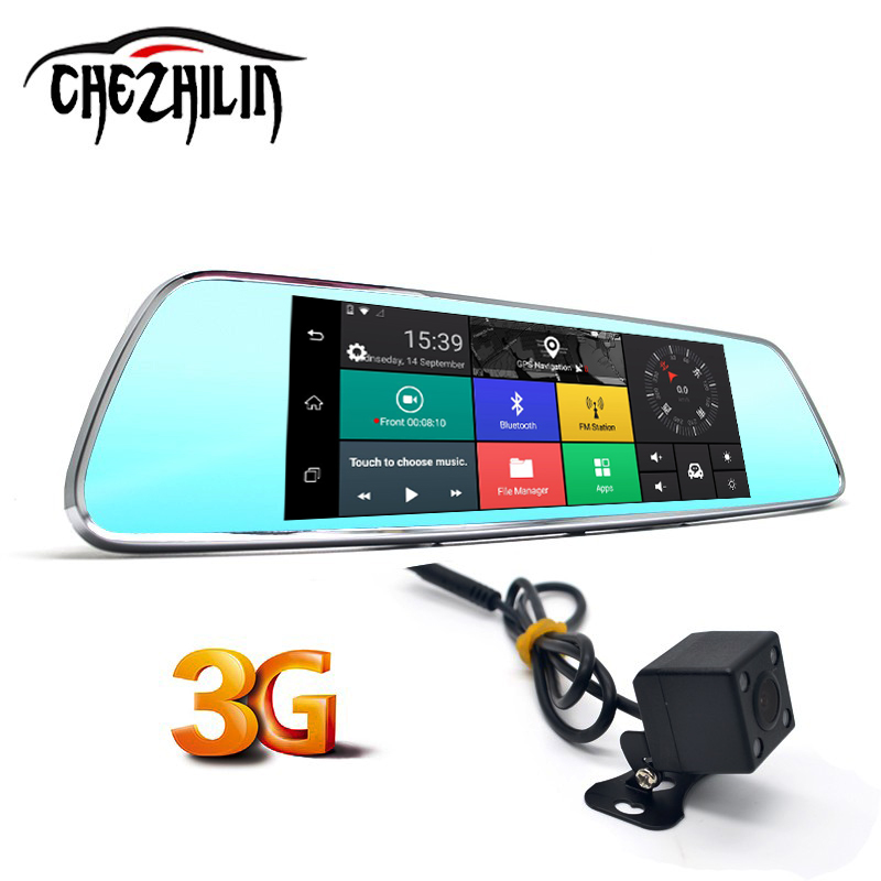 7 3G Car Camera DVR GPS Bluetooth Dual Lens Rearview Mirror Video Recorder Registrar FHD 1080P Automobile DVR Mirror Dash cam 5 inch car camera dvr dual lens rearview mirror video recorder fhd 1080p automobile dvr mirror dash cam