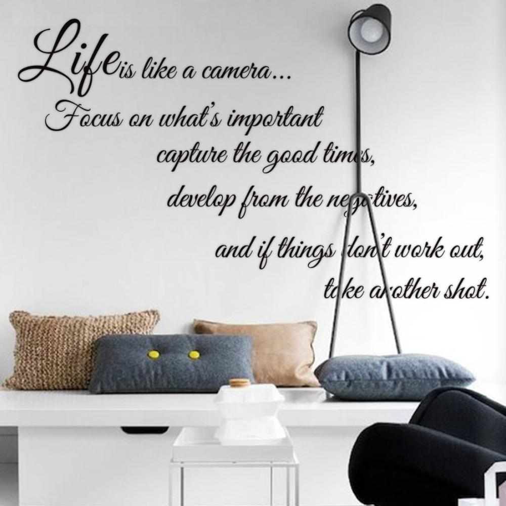 Aliexpresscom  Buy Life Is Like A Camera Monster Wall Paper - Vintage wall decals