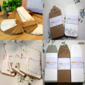 (22 Styles can choose) DIY Scrapbooking Paper Tags Kraft Crafts Wedding Decoration Postcards Labels Flowers Bookmarks
