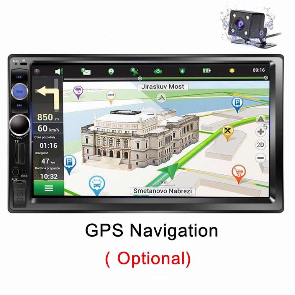 新 2 喧騒車のラジオカセットレコーダー車 MP5 プレーヤー Autoradio Bluetooth GPS Nivigation 車ステレオ SD/USB/ AUX/FM ミラーリンク