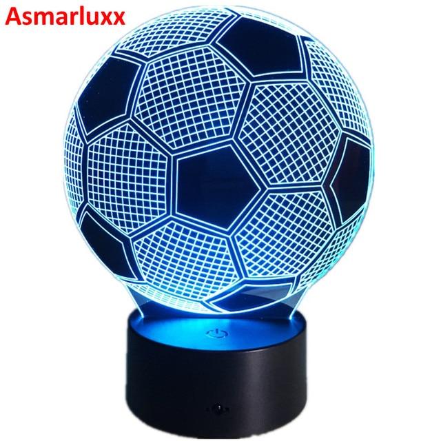 7 couleurs changeantes 3D Illusion lampe Football veilleuse 3D lumières visuelles bureau Luminaria Football lampe AW-003