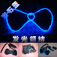 LED Luminescent bow Luminescent bow tie EL Cold light tie toy party ball hollween gift funny baby play ktv