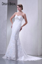 2017 Real Photos Sweetheart Mermaid Wedding Dresses Beaded Appliques Floor-Length Chapel Train Long Bridal Gowns