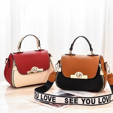 JUILE fashion brand Women Messenger Bags quality leather contrast color design ladies shoulder bag handbag youth Girl coin purse
