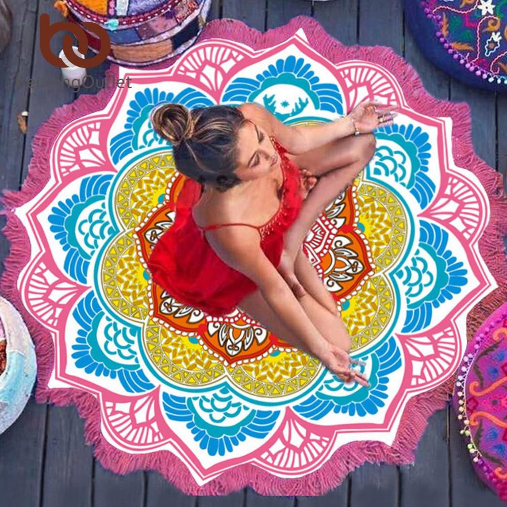 Indian Toalla Mandala Yoga Mat 2