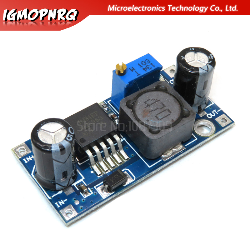1pcs <font><b>LM2596</b></font> LM2596S ADJ DC-DC Step-down Module 5V/<font><b>12V</b></font>/24V Adjustable Voltage Regulator 3A(Blue) image