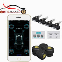 New Arrival Bluetooth 4 0 TPMS Car Tire Tyre Pressure Monitoring System For Android IOS With