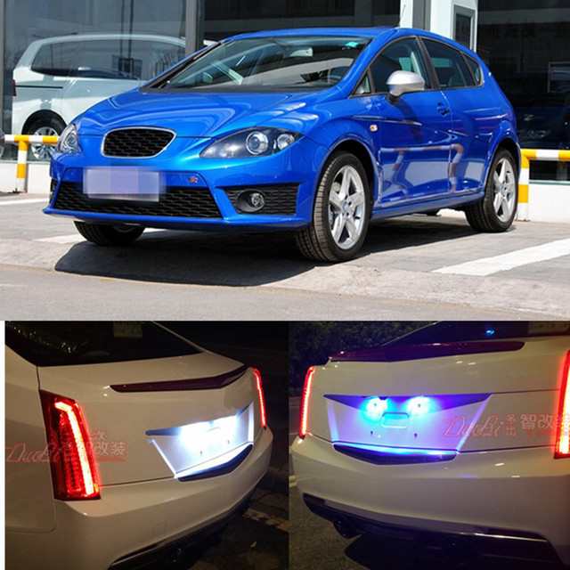 Tcart 2pcs High Bright Auto Led Bulbs License Plate Lights For seat ...
