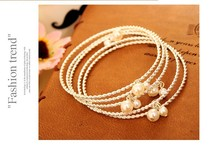 Vintage Jewelry Simulated Pearls Round Bangles Sets For Women Party Accessories Gifts