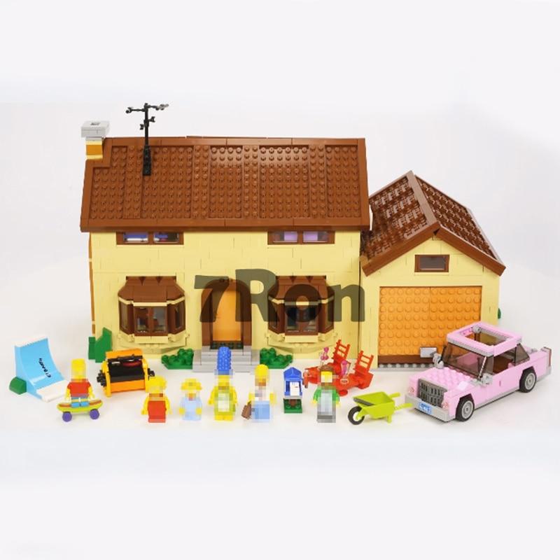 WAZ Compatible Legoe THE Simpsons Series 71006 16005 2575pcs The Simpsons House building blocks bricks toys for children
