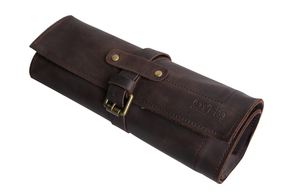 Leather Watch Roll Up 5 Slots Cowhide Travel And Storage Watches Pouch - Protective Storage Case For Watches And Accessories