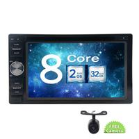 2 din Wifi Mirrorlink Android 7.1 Car Audio Stereo in Dash Car DVD Player HD Video Unit with GPS Navigation Free Back Camera