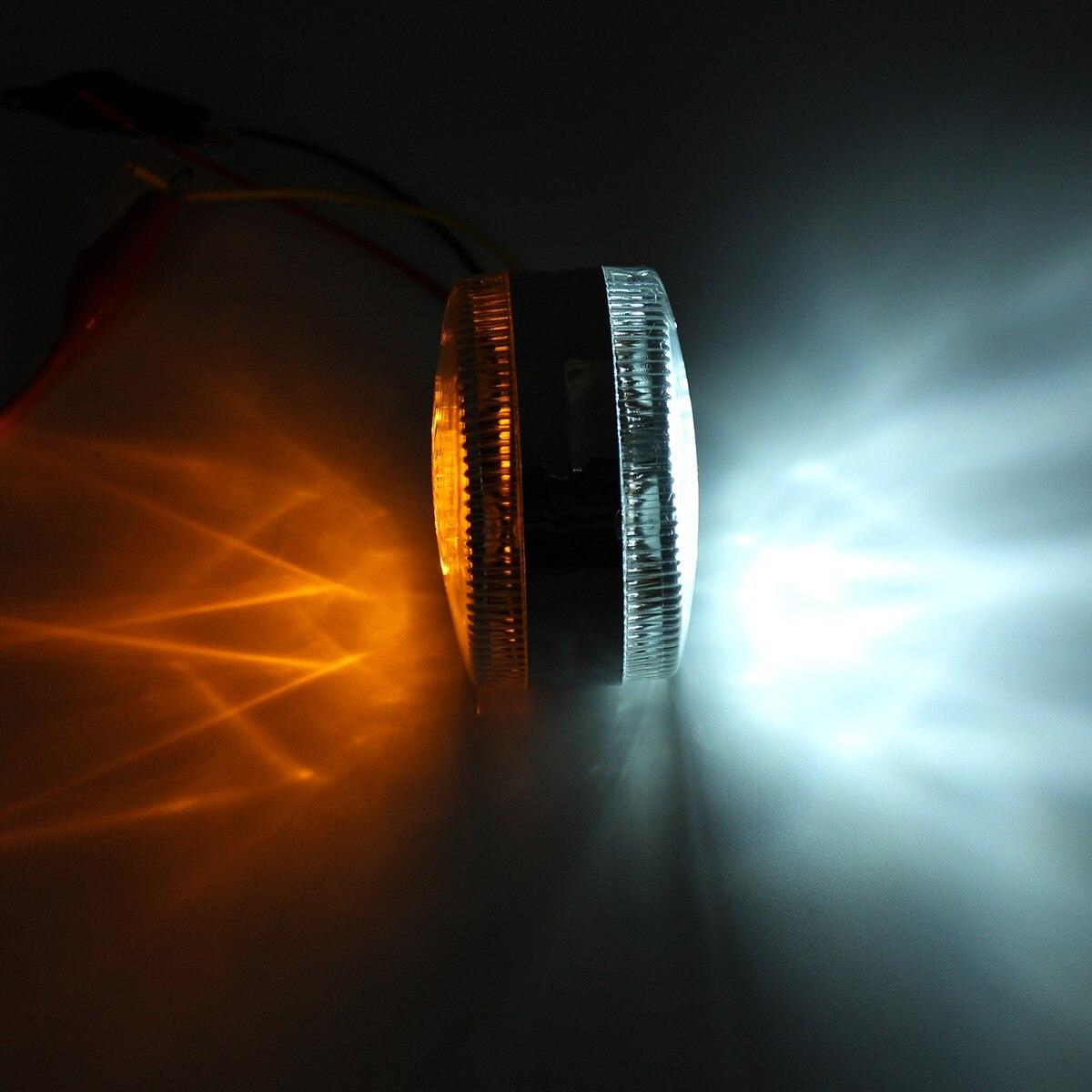 Paire 24 V Chrome Rouge Blanc Ambre 24 LED Side Maker Lumières Pour SCANIA DAF HOMME RENAULT