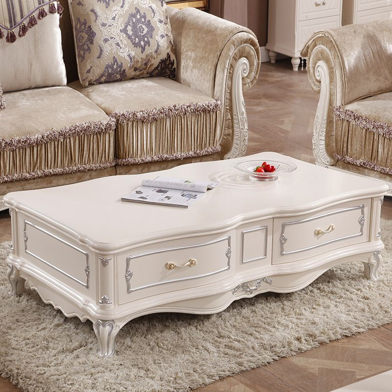 No model ivory living room coffee table imperial for Living room no coffee table