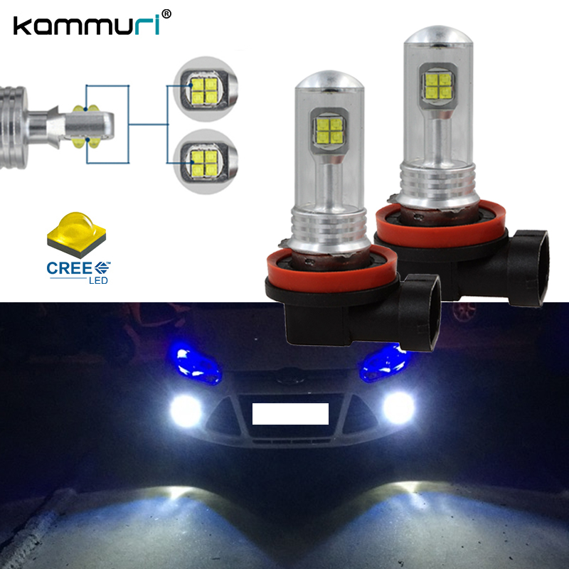 CANbus H8 H11 car led Fog light DRL Bulb for ford focus 2 3 mk2 st mondeo mk4 mk3 fiesta ranger kuga 2017 smax explorer led 12v