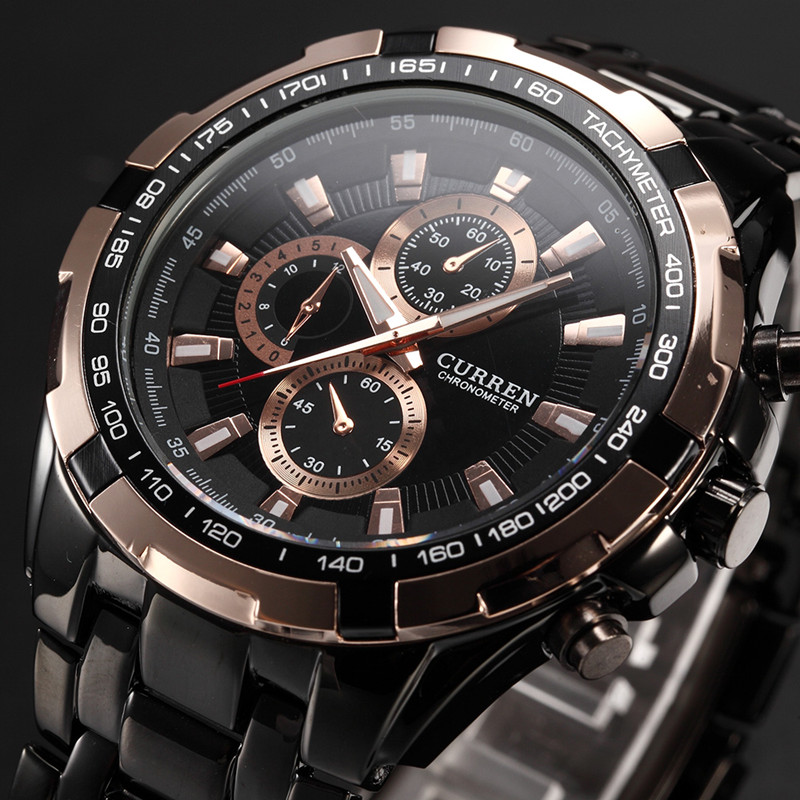 relogio masculino 2018 Men Quartz Watch Curren Brand Luxury Gold Black Mens Watches Waterproof Full Steel Military Sport Watches new fashion mens watches gold full steel male wristwatches sport waterproof quartz watch men military hour man relogio masculino