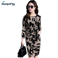 Brand Ladies Spring And Autumn Dress 2017 Large Size New Women S Lace Long Sleeve Dress